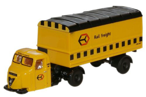 Oxford Diecast Railfreight Scammell Scarab Van Trailer - 1:148 Scale