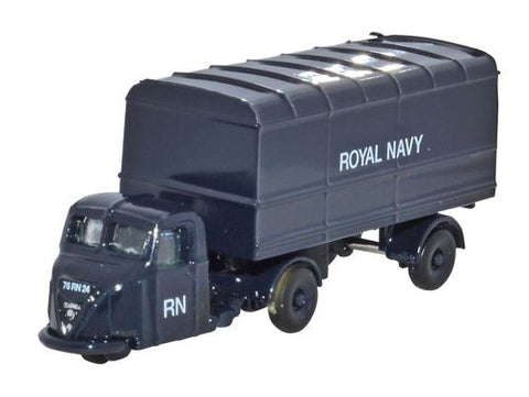 Oxford Diecast Scammell Scarab Van Trailer Royal Navy - 1:148 Scale