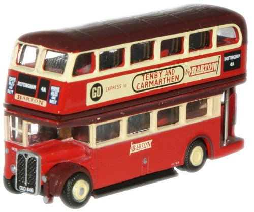 Oxford Diecast Barton Transport RTL Bus - 1:148 Scale
