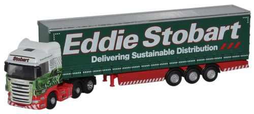 Oxford Diecast Scania Highline Curtainside - Stobart - 1:148 Scale