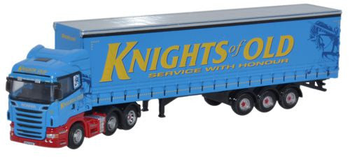 Oxford Diecast Knights of Old Scania Curtainside - 1:148 Scale