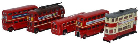 Oxford Diecast Five Piece Bus Set - 1:148 Scale