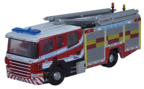 Oxford Diecast Scania Pump Ladder West Sussex F & R - 1:148 Scale