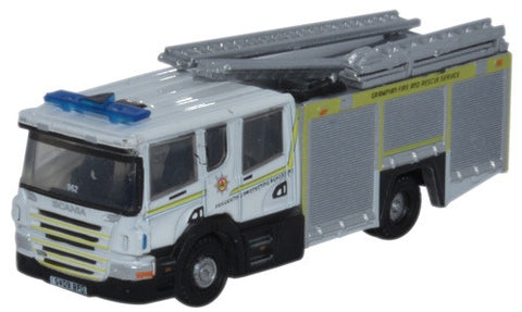 Oxford Diecast Scania Pump Ladder Grampian F & R - 1:148 Scale