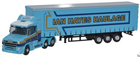 Oxford Diecast Scania T Cab Curtainside Ian Hayes - 1:148 Scale