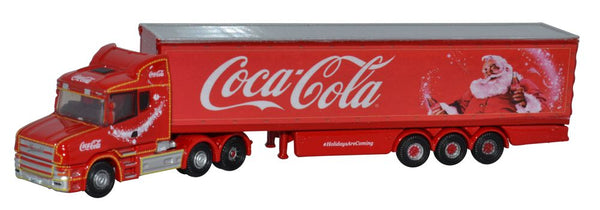 Oxford Diecast Scania T Cab Box Trailer Coca Cola Xmas