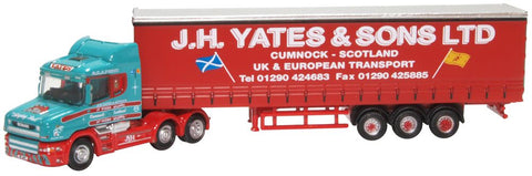 Oxford Diecast Scania T Cab Curtainside J H Yates & Sons