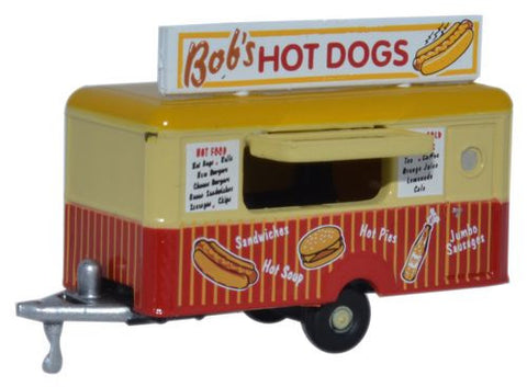 Oxford Diecast Mobile Trailer Bobs Hot Dogs - 1:148 Scale