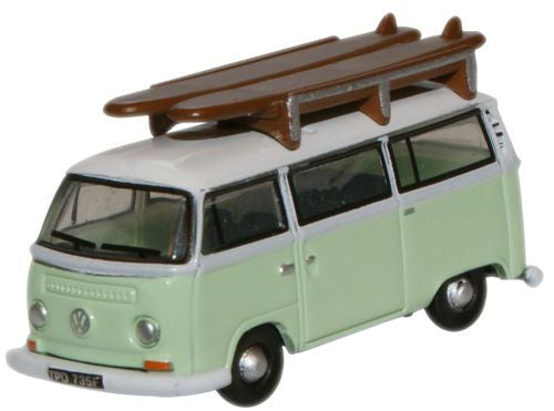 Oxford Diecast Birch Green White VW Minibus - 1:148 Scale