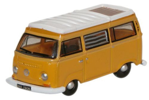 Oxford Diecast Marino Yellow  White VW Camper - 1:148 Scale