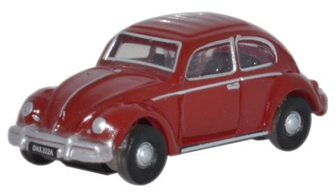 Oxford Diecast Ruby Red VW Beetle - 1:148 Scale