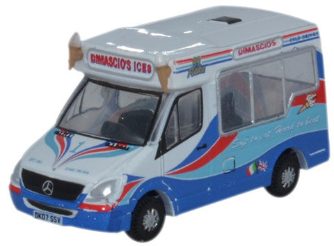 Oxford Diecast Whitby Ice Cream Dimascios - 1:148 Scale