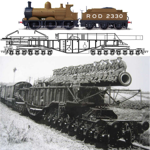 Oxford Rail WW1 Boche Buster - Camouflage And Rod 2330