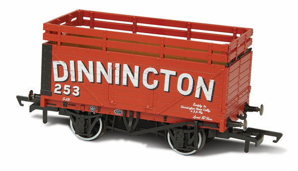 Oxford Rail Coke Wagon 7 Plank Dinnington 254 With 2 Coke Rails