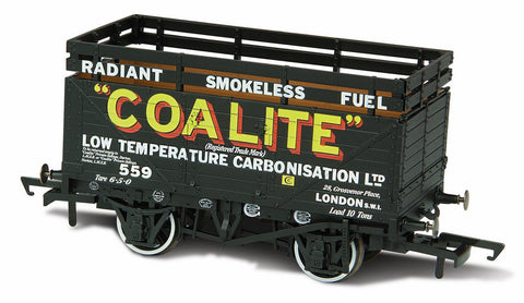 Oxford Rail Coke Wagon 7 Plank Coalite 552 With 2 Coke Rails