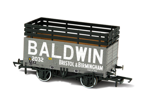 Oxford Rail Baldwin 2032 Grey With 3 Coke Rails