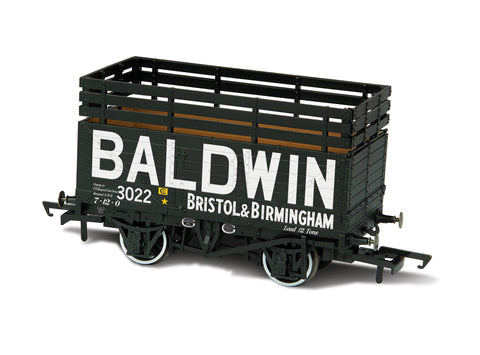 Oxford Rail Baldwin 3022  Black With 3 Coke Rails