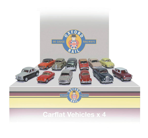 Oxford Rail Carflat Pack 1960's Cars -1:76 Scale