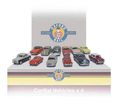 Oxford Rail Carflat Pack 1960s Cars -1:76 Scale