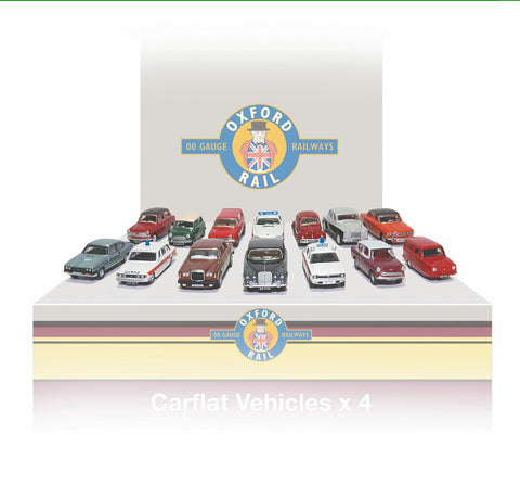 Oxford Rail Carflat Pack 1970's Cars -1:76 Scale