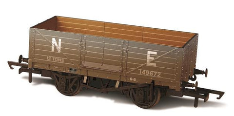 Oxford Rail LNER 6 Plank Mineral Wagon Weathered