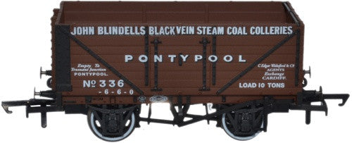 OXFORD RAIL 336 John Blindells Black Vein Steam Pontypool - 1:76 Scale