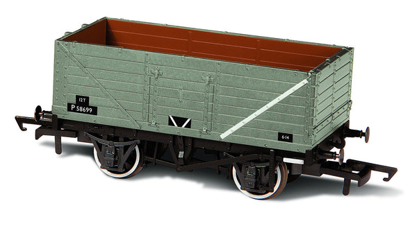 Oxford Rail BR Grey 7 Plank Wagon P58699