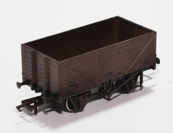 Weathered BR Grey 7 Plank Wagon P73162