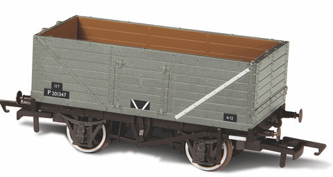 Oxford Rail Br Grey 7 Plank Wagon P73162
