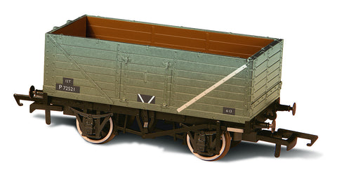 Oxford Rail BR Grey Wagon 7 Plank Wagon Weathered P72521