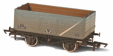 Oxford Rail BR Grey Wagon 7 Plank Wagon Weathered P75934