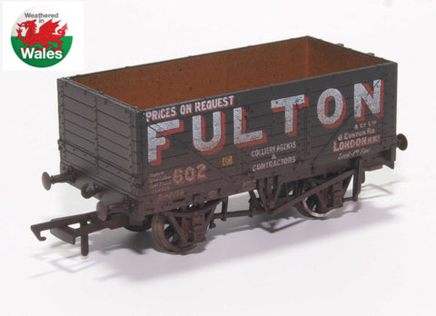 Oxford Rail Weathered Fulton Coal 7 Plank Wagon