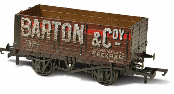 Oxford Rail Weathered Barton And Co No. 321 - 7  Plank Mineral Wagon