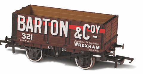 Oxford Rail 7 Plank Wagon Barton And Co No 321