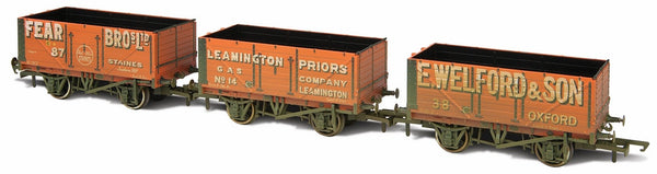 Oxford Rail 7 Plank Wagon Set-fear Bros 87-leamington 14- Welford 38 W
