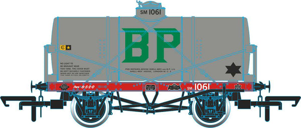 Oxford Rail Po Tank Wagon BP No 1061