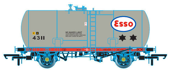 Oxford Rail Class A Tank Esso 4311 Class A Revised Suspension