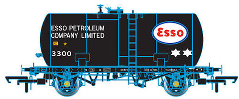 Oxford Rail Class B Tank Esso Black Original Suspension 3300 Class B