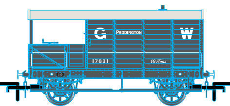 Oxford Rail GWR 4 Wheel Planked (early) Paddington