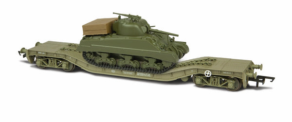 Oxford Rail Warwell With Sherman Tank No. 95537 Pristine