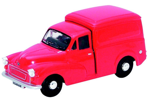 Oxford Diecast Red Morris Minor - 1:43 Scale