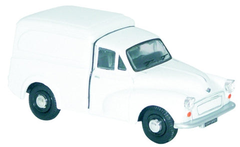 Oxford Diecast White Morris Minor - 1:43 Scale