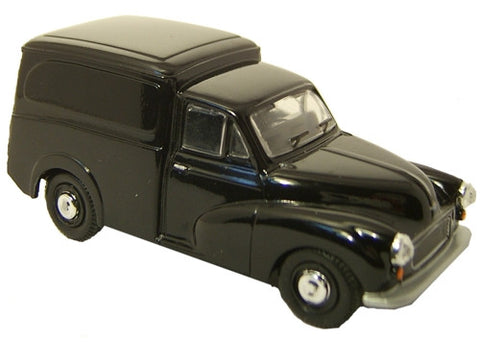 Oxford Diecast Black Morris Minor - 1:43 Scale
