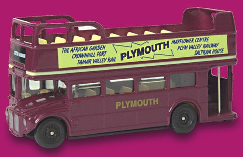 Oxford Diecast Plymouth Open Top Bus - 1:76 Scale