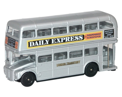 Oxford Diecast Silver Routemaster - 1:76 Scale