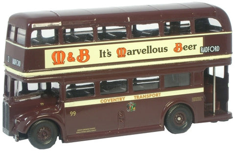 Oxford Diecast RT Bus - Coventry - 1:76 Scale