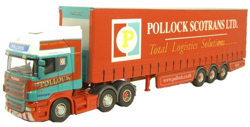 Oxford Diecast Scania R420 Topline C/Side Pollock (Scotrans) Ltd - 1:7
