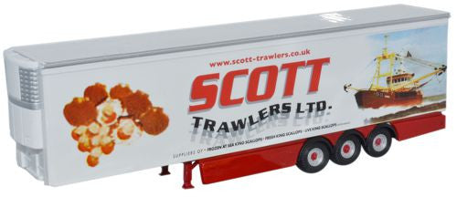 Oxford Diecast Scott Trawlers Trailer - 1:76 Scale
