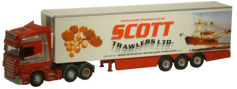 Oxford Diecast Scott Trawlers Scania - 1:76 Scale