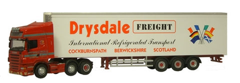 Oxford Diecast Drysdale Freight Scania Fridge - 1:76 Scale
